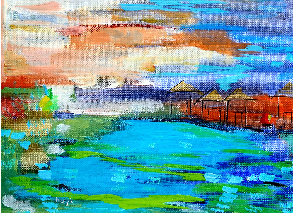 Huts in Borneo by dontblink
