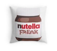 Nutella Freak Throw Pillow