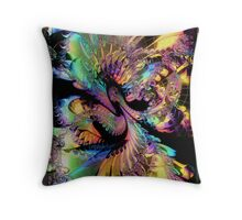 Symphony in Fractal Throw Pillow