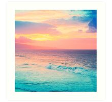 Hookipa Surf Sunset Art Print