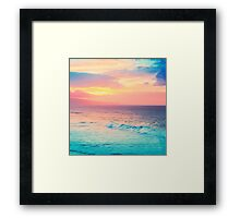 Hookipa Surf Sunset Framed Print