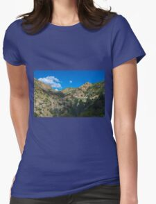 Blue Arizona Sky and Mt. Lemmon Womens Fitted T-Shirt