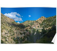 Blue Arizona Sky and Mt. Lemmon Poster