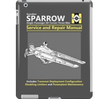 Sparrow Service and Repair Manual iPad Case/Skin