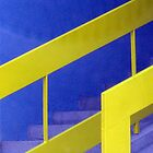 yellow-blue stairs by Rada