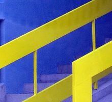 yellow-blue stairs by Rada