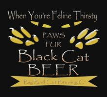Black Cat Beer T-Shirt by simpsonvisuals