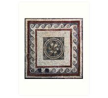 Household Mosaic, Delos  Art Print