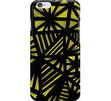 Giacomo Abstract Expression Yellow Black iPhone Case/Skin