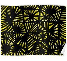 Giacomo Abstract Expression Yellow Black Poster