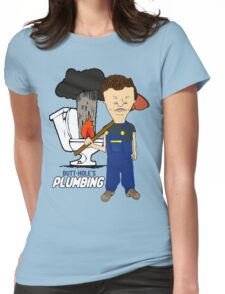 Butt-Hole's Plumbing Womens Fitted T-Shirt