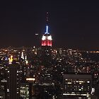 Manhattan Skyline by Night by Graham Ettridge