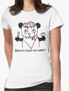 brains taste like smart Womens Fitted T-Shirt