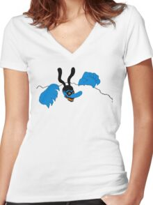 No your Blueness! Women's Fitted V-Neck T-Shirt