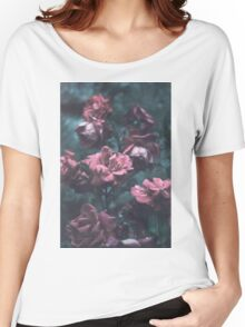 Pale Flowers Design Women's Relaxed Fit T-Shirt