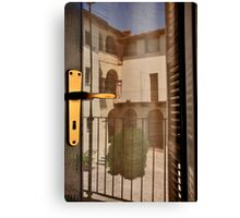 Reflections on Door Canvas Print