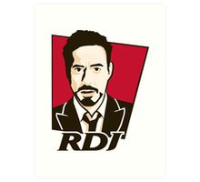 Robert Downey Jr. - KFC Logo Art Print