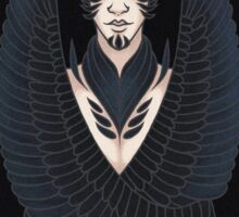 The feathered man.  Sticker