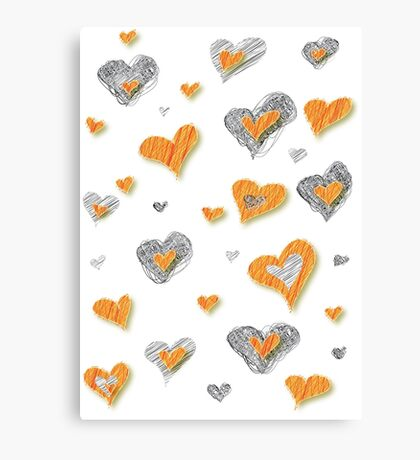 Heart Doodles  Canvas Print
