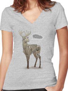 Robodeer3000 Women's Fitted V-Neck T-Shirt