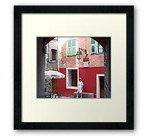 Visit Peille ! Framed Print
