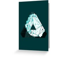 Abstract Geometry: Ocean Crystal (Ice Blue) Greeting Card