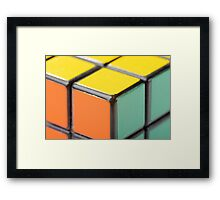 Closeup of Rubik's Cube Framed Print