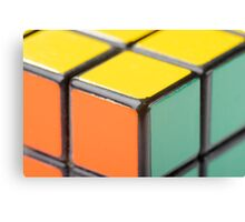 Closeup of Rubik's Cube Canvas Print