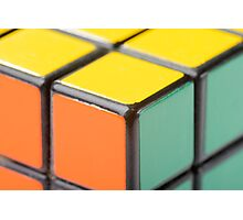 Closeup of Rubik's Cube Photographic Print