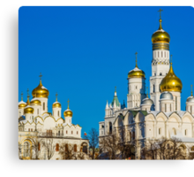 Calendar Moscow Kremlin 2015 and 2016. January Canvas Print