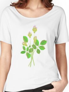 Four Rose Buds Women's Relaxed Fit T-Shirt