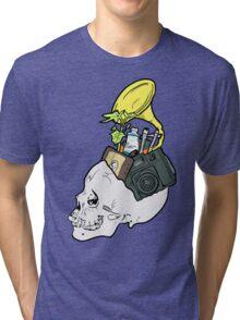 In My Skull Made of Bones  Tri-blend T-Shirt
