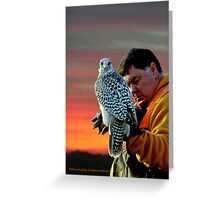 Ralph and his Gyrfalcon Greeting Card