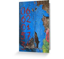 06 62 01 57 34 in RedBlue Greeting Card