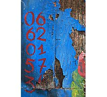 06 62 01 57 34 in RedBlue Photographic Print