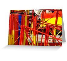 Funfair railings Greeting Card