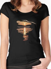 Flying seagull  Women's Fitted Scoop T-Shirt