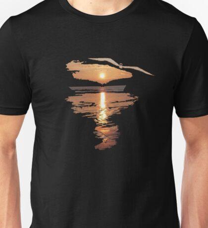Flying seagull  Unisex T-Shirt