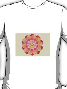 Orange Floral Fun Pattern T-Shirt