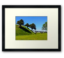 Blue-green Framed Print
