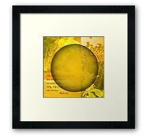 The Kingdom Of God Is Like A Mustard Seed Framed Print