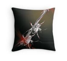 Tech abstract Throw Pillow