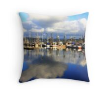 Marina in NewPort, Oregon Throw Pillow