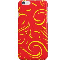 Calleros Abstract Expression Yellow Red iPhone Case/Skin