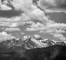 Thunderbirds fly by Pikes Peak by rbailsjeffrey