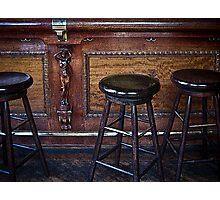 """Three stools walk into a bar ..."" Photographic Print"