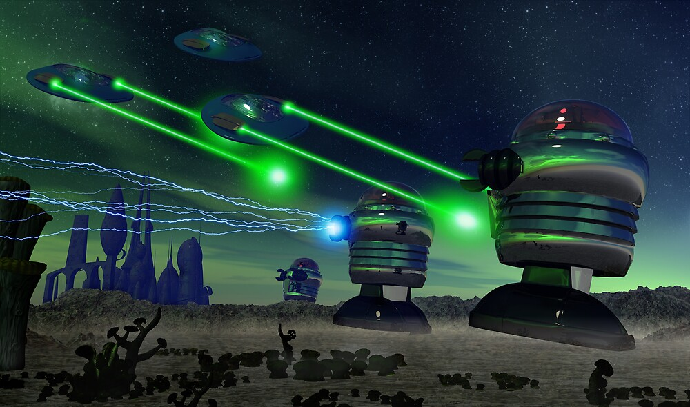 Alien Attack 1 by mdkgraphics