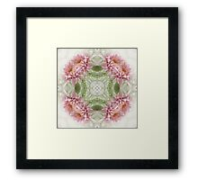 Pink Chrysanthemums Kaleidoscope Art 8 Framed Print