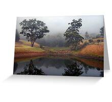 Morning Mist at Kangaroo Valley. NSW Greeting Card