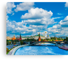 Calendar Moscow Kremlin 2015 and 2016. June Canvas Print